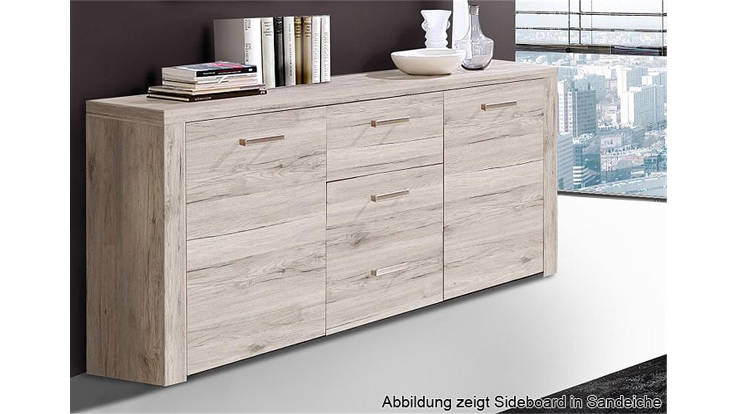 sideboard portland kommode anrichte in eiche antik dekor. Black Bedroom Furniture Sets. Home Design Ideas