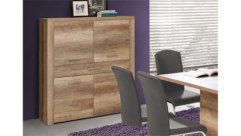 highboard portland kommode schrank in eiche antik dekor. Black Bedroom Furniture Sets. Home Design Ideas