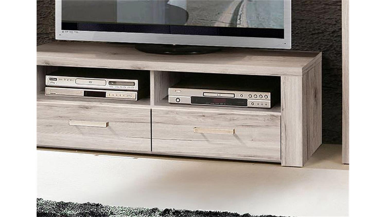 tv unterteil portland lowboard board in sandeiche dekor. Black Bedroom Furniture Sets. Home Design Ideas