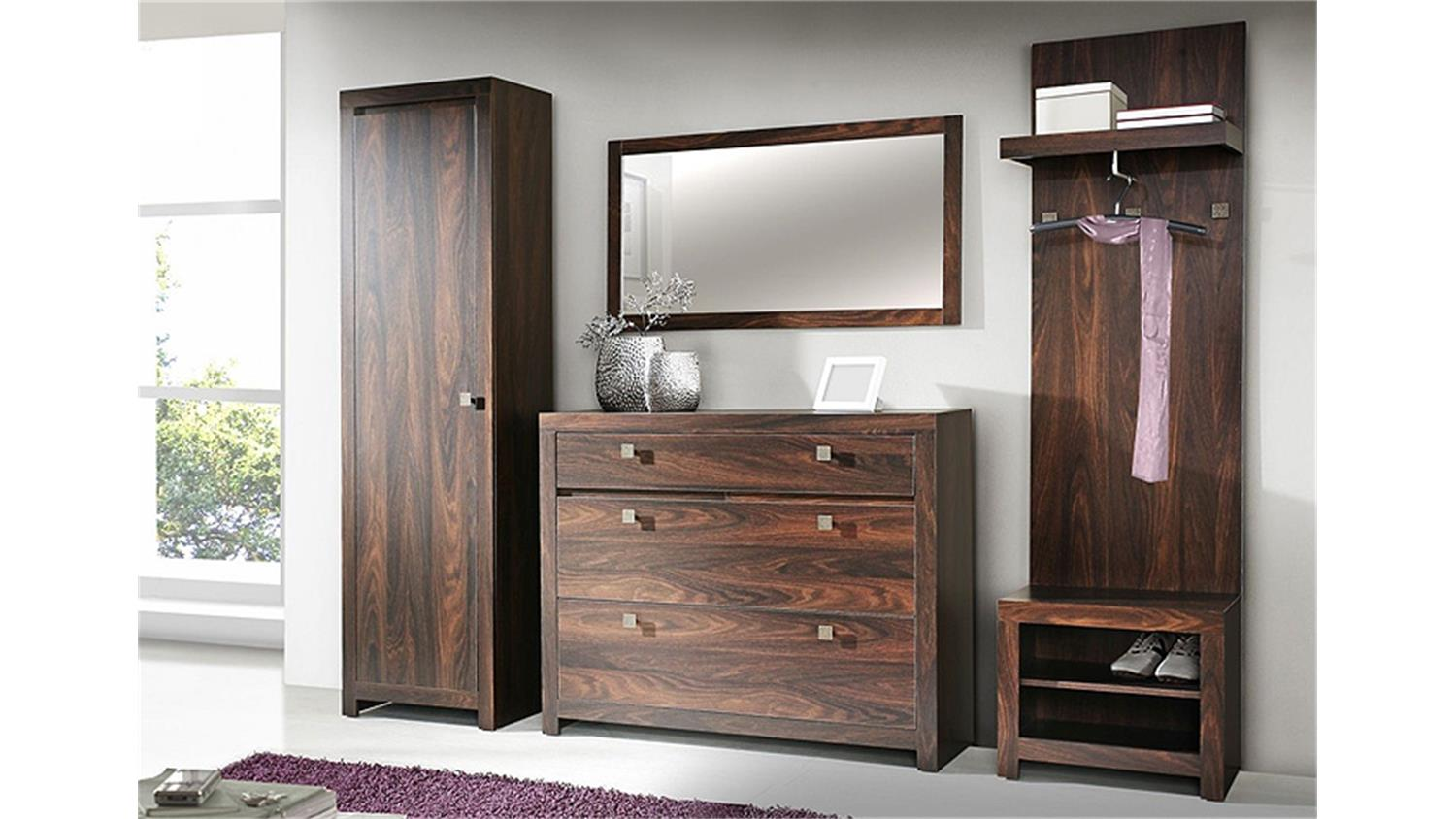 garderobenset indigo schuhschrank eiche durance kolonialstil. Black Bedroom Furniture Sets. Home Design Ideas