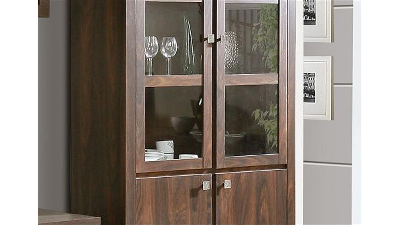 vitrine ii indigo regal schrank eiche durance kolonialstil. Black Bedroom Furniture Sets. Home Design Ideas