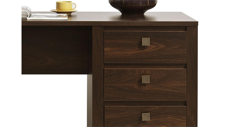 Dunkle Eiche Schreibtisch : Schreibtisch INDIGO Computertisch Tisch in Eiche Durance