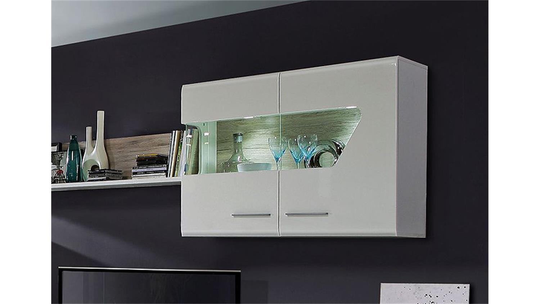 yarial = wohnwand sandeiche weiß hochglanz ~ interessante, Gestaltungsideen