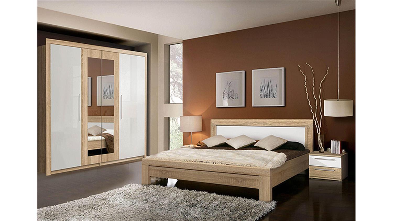 schlafzimmer set weiß: schlafzimmer set fichte massivholz weiss ... - Schlafzimmer Eiche Weis