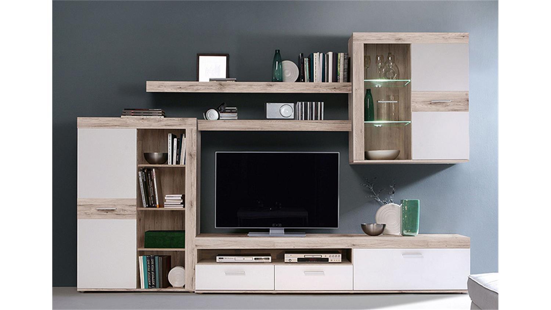 wohnwand zumba sandeiche bestseller shop f r m bel und einrichtungen. Black Bedroom Furniture Sets. Home Design Ideas
