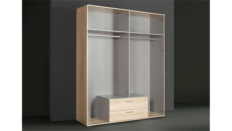 kleiderschrank ii nano sonoma eiche und wei. Black Bedroom Furniture Sets. Home Design Ideas