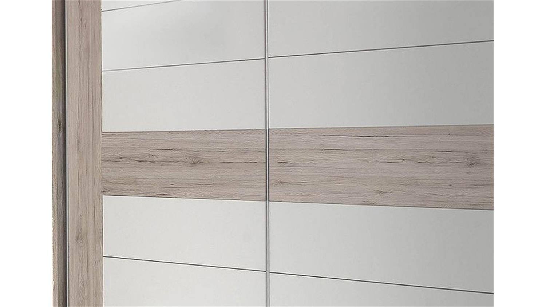 schwebet renschrank rondino sandeiche und wei hochglanz. Black Bedroom Furniture Sets. Home Design Ideas