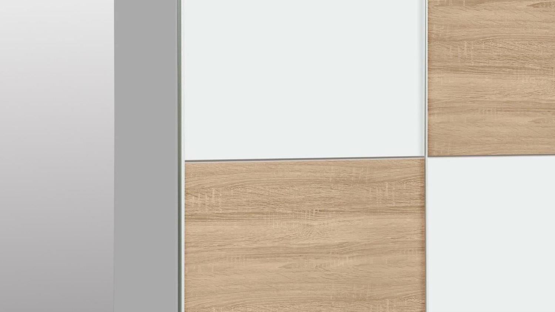 schwebet renschrank winner schrank in wei und sonoma eiche 170x190 cm. Black Bedroom Furniture Sets. Home Design Ideas