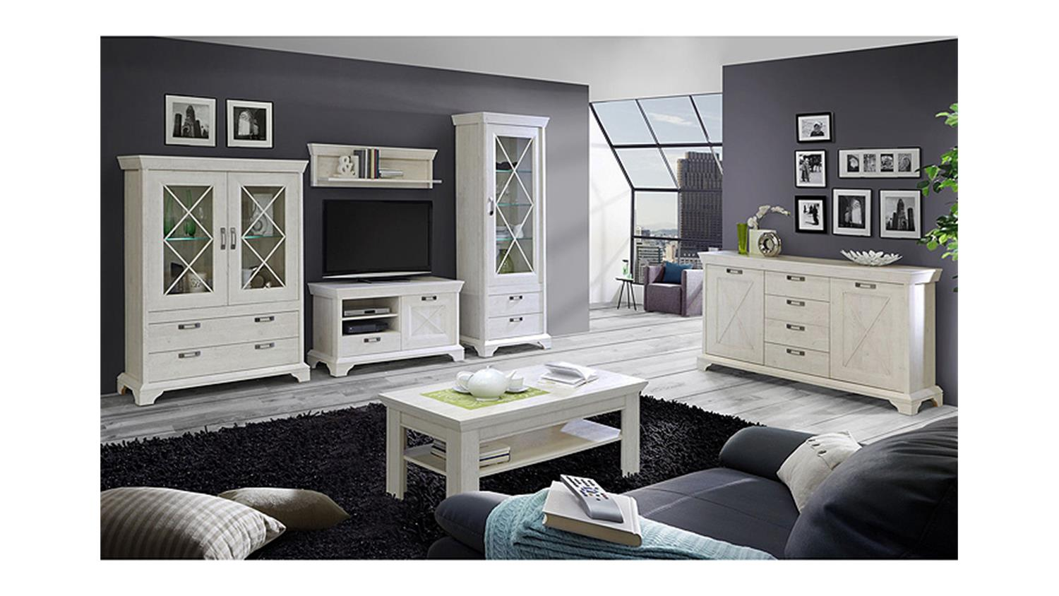 sideboard kashmir kommode anrichte in pinie wei. Black Bedroom Furniture Sets. Home Design Ideas