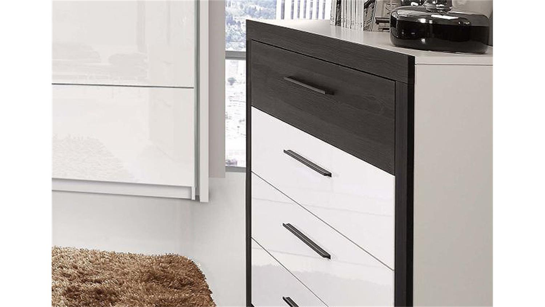 kommode schwarzbraun wei. Black Bedroom Furniture Sets. Home Design Ideas
