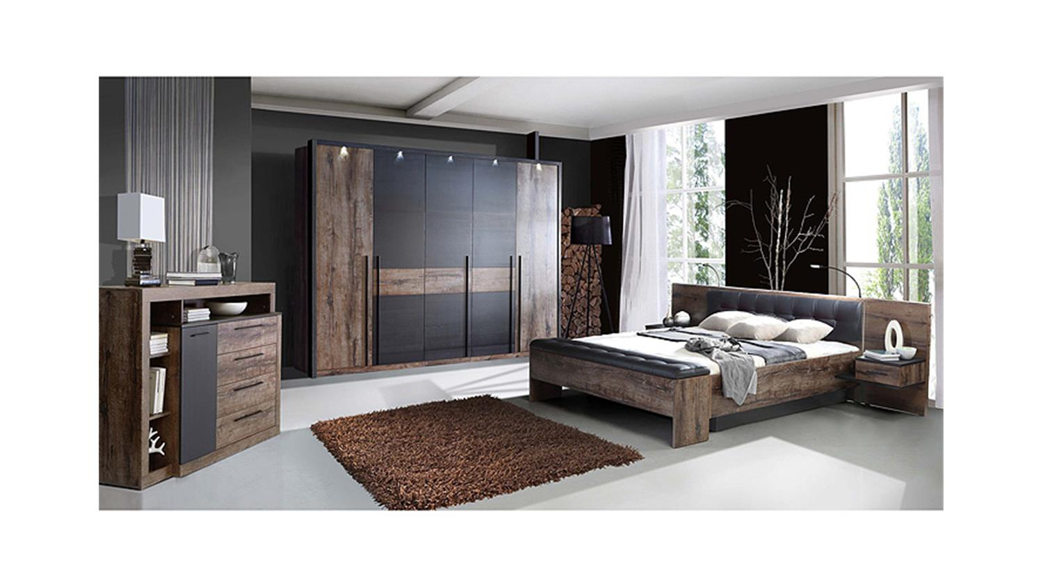 schlafzimmerset 2 bellevue schwarzeiche und schlammeiche. Black Bedroom Furniture Sets. Home Design Ideas