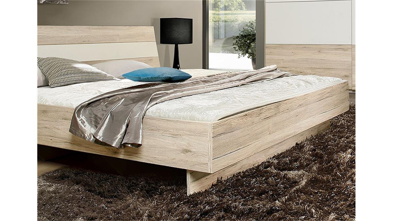 bett valerie futonbett schlafzimmerbett sandeiche wei 180x200. Black Bedroom Furniture Sets. Home Design Ideas