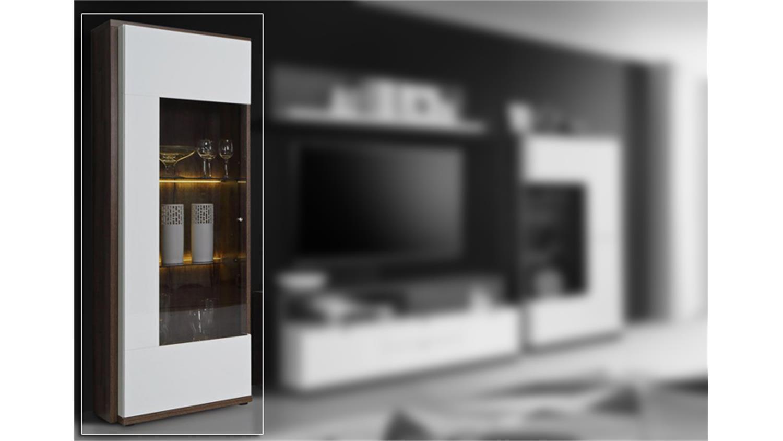 vitrine alcano glasvitrine wei hochglanz schlammeiche. Black Bedroom Furniture Sets. Home Design Ideas