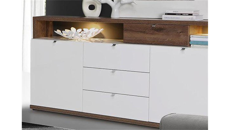 sideboard 1 alcano kommode wei hochglanz schlammeiche. Black Bedroom Furniture Sets. Home Design Ideas