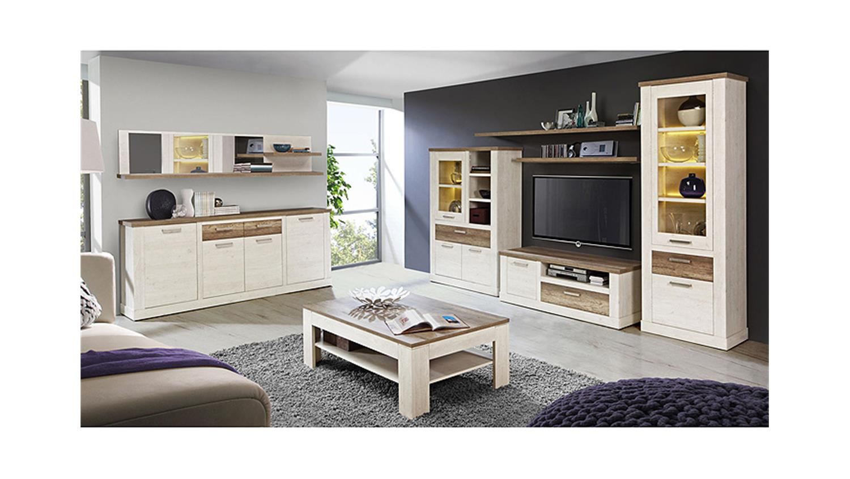 vitrine duro glasvitrine schrank pinie wei und eiche antik. Black Bedroom Furniture Sets. Home Design Ideas