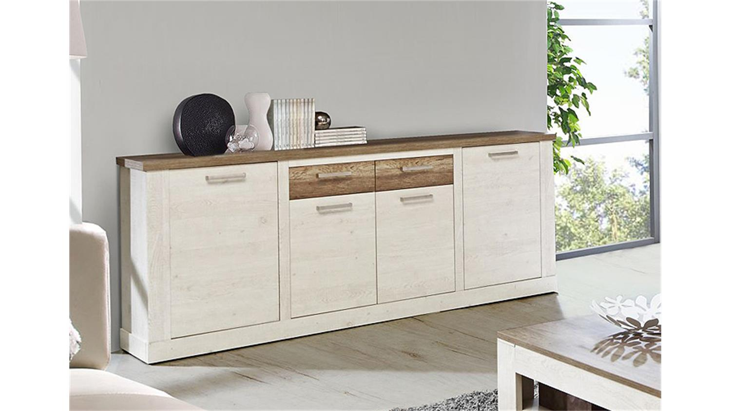 sideboard duro kommode anrichte pinie wei eiche antik. Black Bedroom Furniture Sets. Home Design Ideas