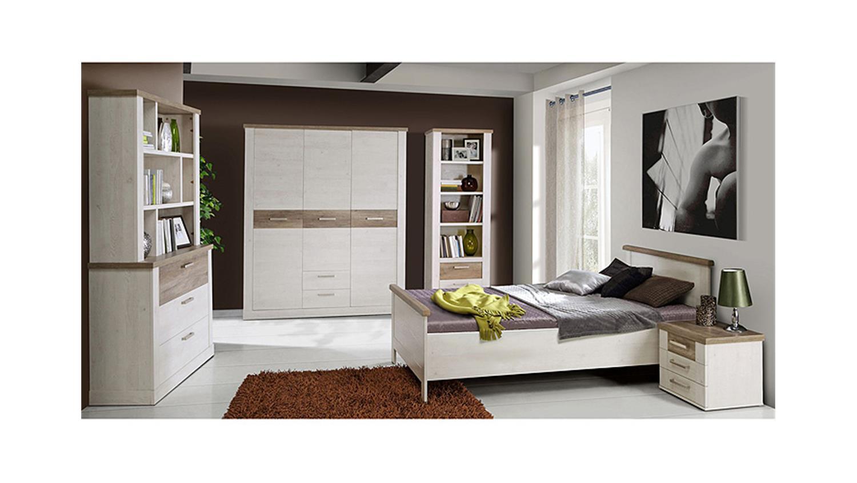 bett duro jugendzimmerbett pinie wei eiche antik 100x200. Black Bedroom Furniture Sets. Home Design Ideas