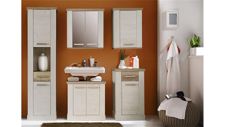h ngeschrank duro spiegelschrank pinie wei eiche antik. Black Bedroom Furniture Sets. Home Design Ideas