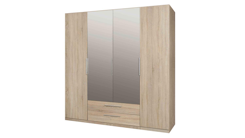 kleiderschrank cadixo schrank sonoma eiche spiegel 200 cm. Black Bedroom Furniture Sets. Home Design Ideas