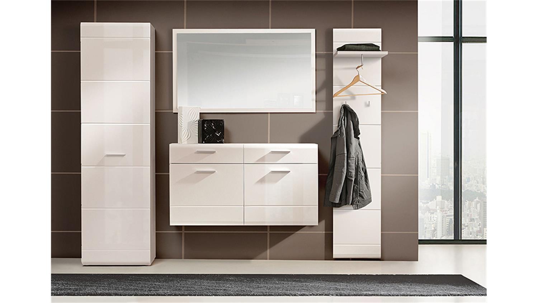 garderobenset slate garderobe in wei hochglanz und matt. Black Bedroom Furniture Sets. Home Design Ideas