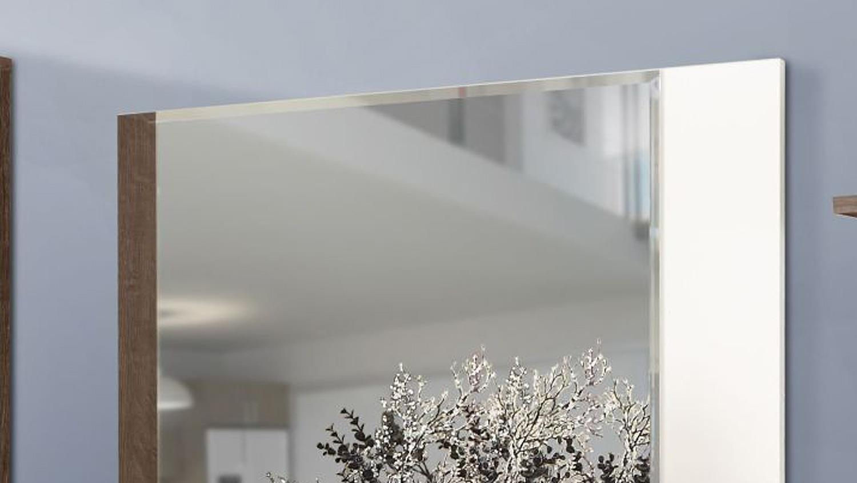 spiegel raven wandpsiegel in schlammeiche wei 105 cm. Black Bedroom Furniture Sets. Home Design Ideas