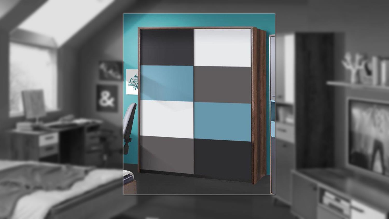 schwebet renschrank raven schlammeiche wei schwarz gr n grau. Black Bedroom Furniture Sets. Home Design Ideas