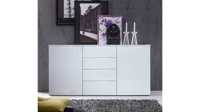 sideboard sienna kommode anrichte in wei hochglanz. Black Bedroom Furniture Sets. Home Design Ideas