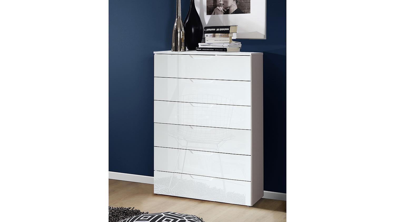 schubkastenkommode sienna schubkastenkommode sienna kommode in wei hochglanz. Black Bedroom Furniture Sets. Home Design Ideas