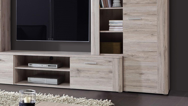 wohnwand in sandeiche interessante ideen f r die gestaltung eines raumes in ihrem. Black Bedroom Furniture Sets. Home Design Ideas