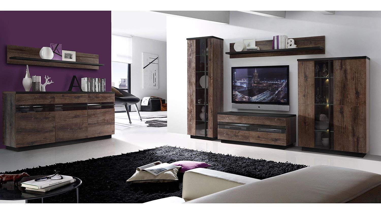 Tv m bel eiche modern for Moderner design couchtisch pull sonoma eiche hochglanz weiss 120 cm