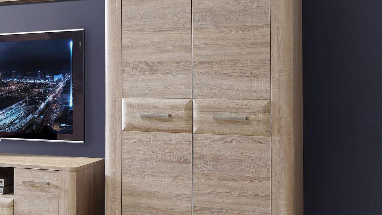 schrank aspence highboard wohnzimmerschrank in sonoma eiche. Black Bedroom Furniture Sets. Home Design Ideas
