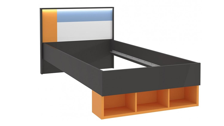 colors kinderzimmer in uni wolfram grau weiß orange blau - Kinderzimmer Orange Blau