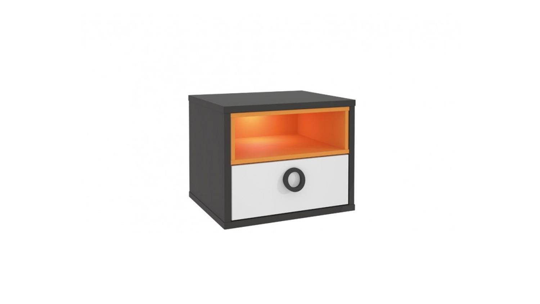 colors kinderzimmer in uni wolfram grau weiß orange blau - Kinderzimmer Grau Orange