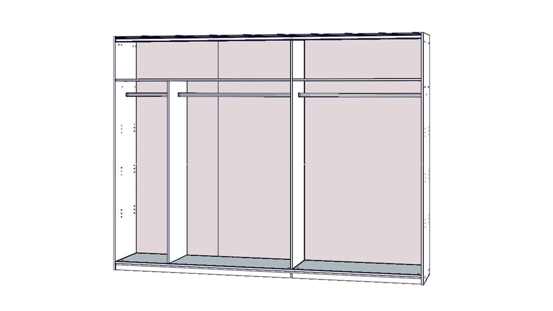 schwebet renschrank starlet plus 2 t rig in wei hochglanz 270x210 cm. Black Bedroom Furniture Sets. Home Design Ideas