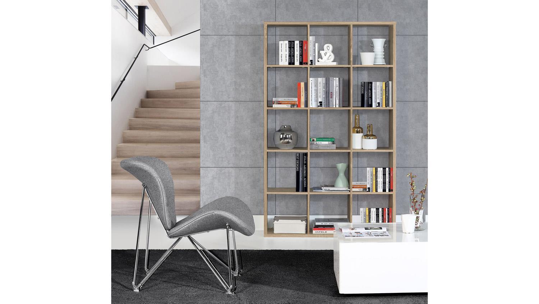 regal mauro b cherregal regalsystem in sonoma eiche mit 15 f chern 3x5. Black Bedroom Furniture Sets. Home Design Ideas