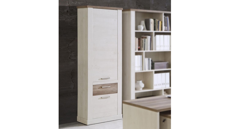 schrank duro aktenschrank b roschrank in pinie wei und eiche antik. Black Bedroom Furniture Sets. Home Design Ideas