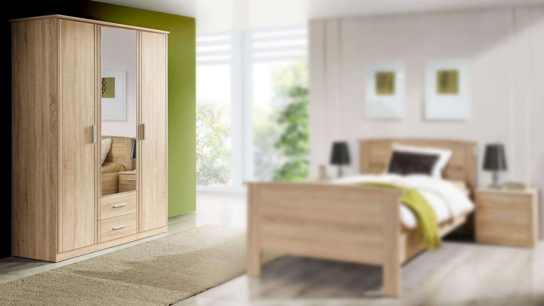kleiderschrank gloria schrank schlafzimmer in sonoma eiche. Black Bedroom Furniture Sets. Home Design Ideas