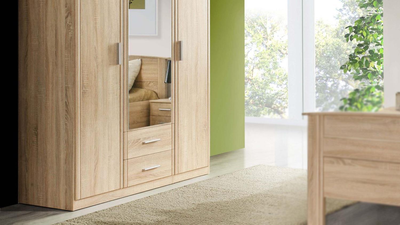 Kleiderschrank GLORIA Schrank Schlafzimmer in Sonoma Eiche 139 cm