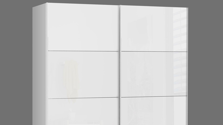 Schwebeturenschrank Starlet Plus Schrank In Weiss Hochglanz 170x210
