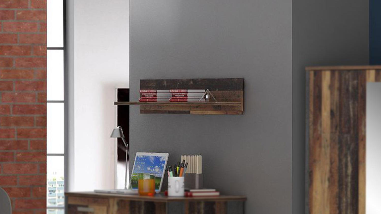Wandboard CLIF Wandregal Hängeboard in old wood vintage