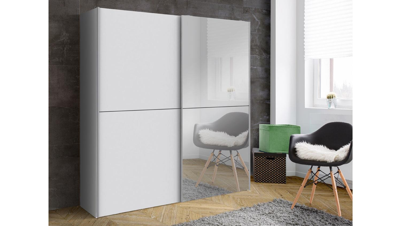 Schwebeturenschrank White Kiss Weiss Mit Spiegel 170 Cm