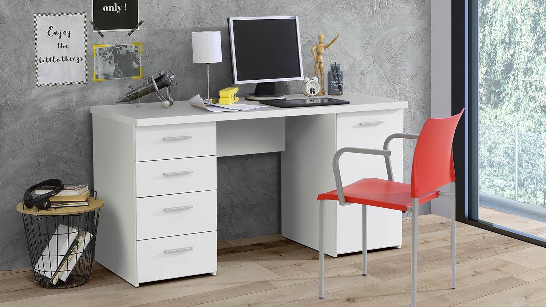 Schreibtisch Weiß Matt 2021