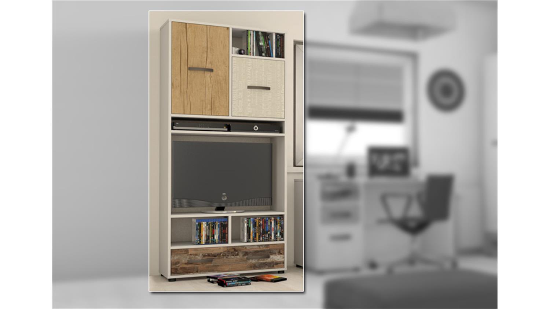 tv schrank hutch wei maracaibo rustico im vintage look. Black Bedroom Furniture Sets. Home Design Ideas