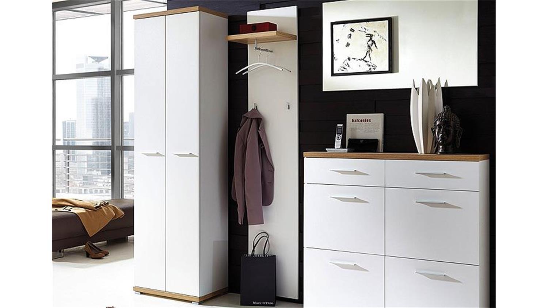 garderobenpaneel 1 top wei und sonoma eiche germania. Black Bedroom Furniture Sets. Home Design Ideas