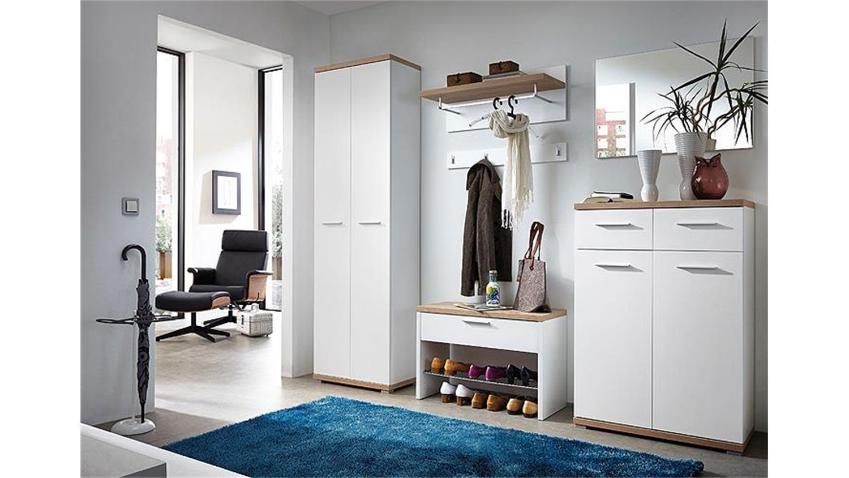 garderobenpaneel 2 top wei und sonoma eiche germania. Black Bedroom Furniture Sets. Home Design Ideas