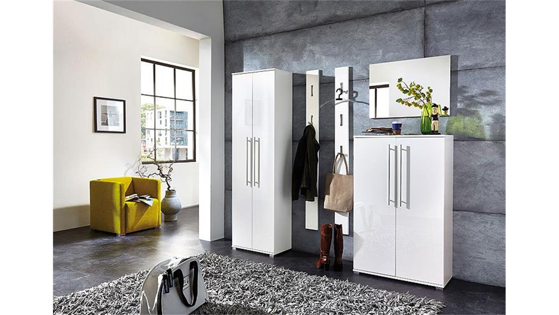 garderoben set 1 inside wei hochglanz 5 teilig germania. Black Bedroom Furniture Sets. Home Design Ideas