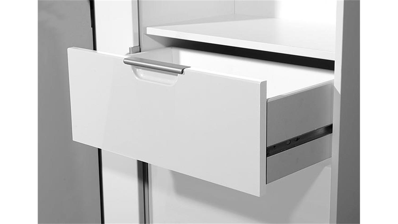 garderobenschrank 1169 wei hochglanz tiefzieh germania. Black Bedroom Furniture Sets. Home Design Ideas