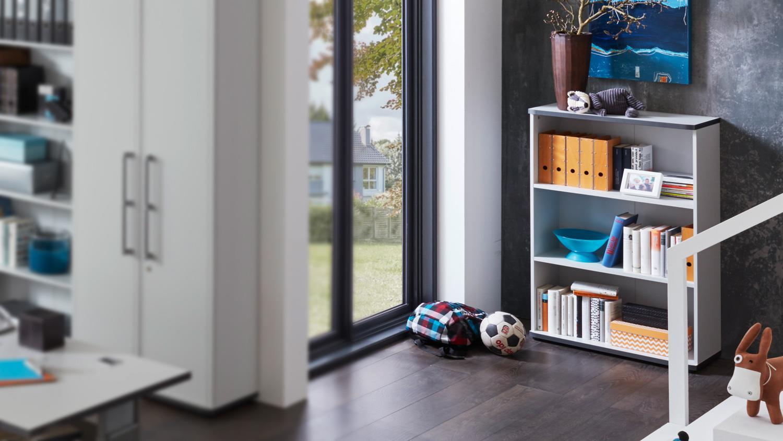 aktenregal 1 profi b cherregal regal in lichtgrau germania. Black Bedroom Furniture Sets. Home Design Ideas