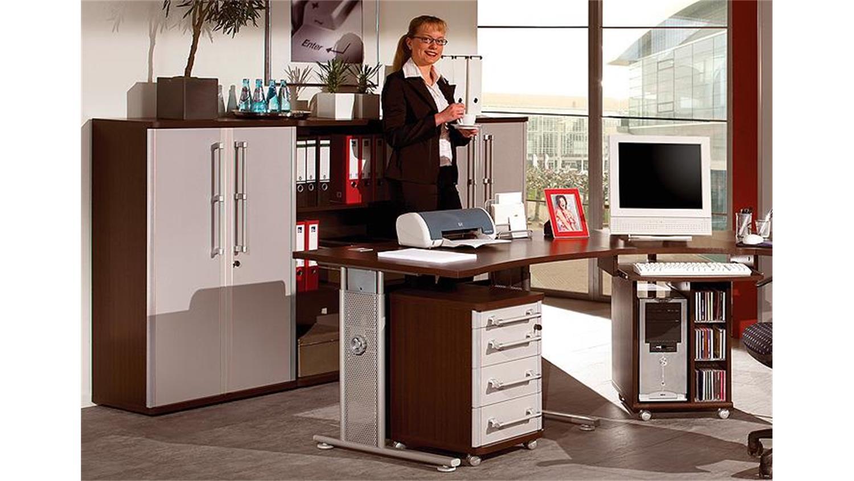 b ro set profi wenge und lichtgrau 11 teilig germania. Black Bedroom Furniture Sets. Home Design Ideas