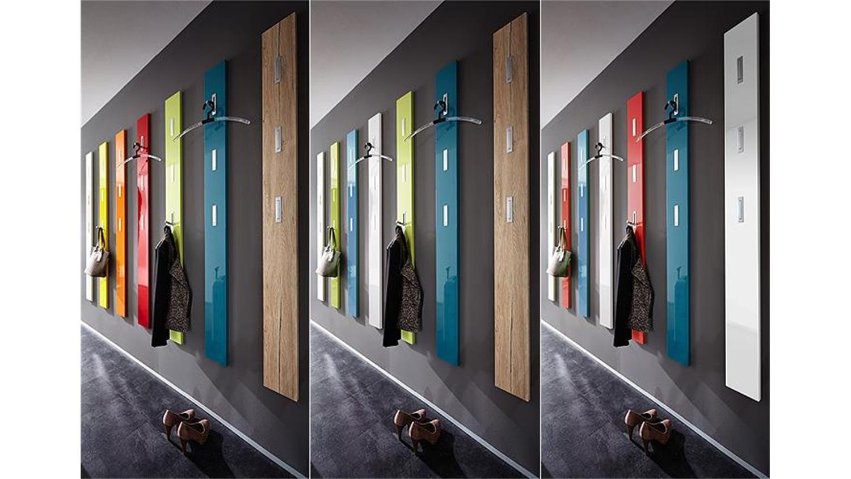 Garderobenpaneel colorado wei hochglanz germania for Garderobenpaneel modern